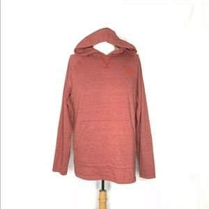 The North Face Pullover Cotton Hoodie Large Red